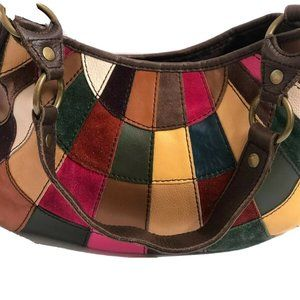Lucky Brand Shoulderbag Multi Patch Work Leather